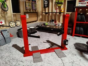 1/24th or 1/18th Scale 2 Post Lift for your scale garage!