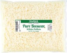 Stakich Pure White BEESWAX Pellets - 100% Natural, Cosmetic Grade, Premium