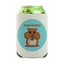 Hamster Them Cheeks Sunflower Seed Can Cooler Drink Hugger Insulated Holder