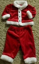 0/3 Month Baby Boy Or Girl Santa Suit Outfit Polyester Acrylic