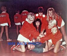 PSA AIRLINES STEWARDESS IN CHARITY BASETBALL GAME - REPRINT PHOTO