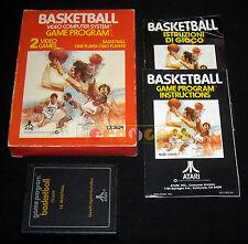 BASKETBALL Atari Vcs 2600 Versione Europea Text Lebel ••••• COMPLETO