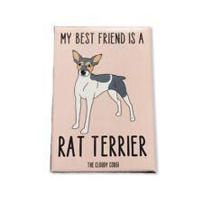 Rat Terrier Dog Magnet Best Friend Cartoon Art Handmade Gifts and Home Decor