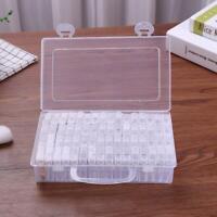64 Schlitze Klar Plastik Schmuck Aufbewahrung Etui Handwerk Organizer Perlen