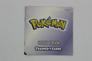 POKEMON CRYSTAL NINTENDO GAMEBOY COLOR MANUAL ONLY