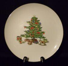 "HOLIDAY HOSTESS Set Of 4 Cake Plates  71/2"" Christmas Tree -Tienshan Fine China"