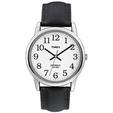 Timex Easy Reader mens indiglo classic black strap watch T20501