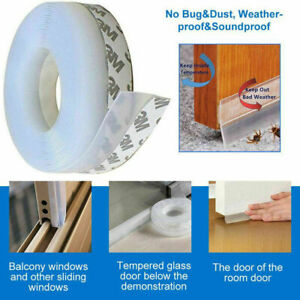 5M Door Strip Seal Adhesive Draught Excluder Window Tape Weather Silicone Stoppe