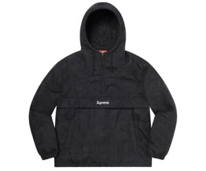 Supreme Floral Tapestry Anorak Black Size Medium M NEW IN HAND Jacket