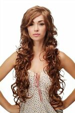 Supermodel Wig Long Blonde Strawberry Blond Braun Mahogany Curly RUS50E-27CSP33