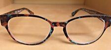 """AJ Morgan """"popular"""" Brown & Turq Reading Glasses #54255 Strength 3.00"""
