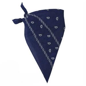 NAVY BLUE PRINTED BANDANA NECKERCHIEF COWBOY WESTERN FANCY DRESS ACCESSORY