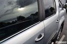 To Fit 2010 - 2016 Volkswagen VW Amarok Window Trim Chrome 4 Piece Set