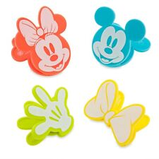 Disney Eats Bag Clips Set of 4 - Mickey Mouse, Glove, Minnie Mouse & Bow - Nib
