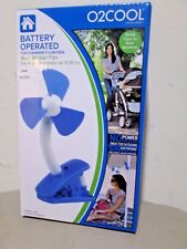 New with Box - O2Cool Battery Operated Clip-On Stroller Fan ( 4 in )