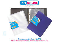 A5 Slim Ring Binder With 10 Free Punched Pockets Filling Folder Solid 301149
