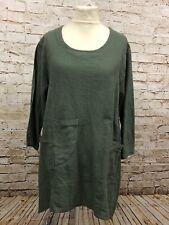 Moonshine Fashion Tunika 50%Leinen Shirt Lagenlook Übergröße 44 46 48 Neu grün
