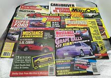 Vintage 1980/90s Lot 8 Mustangs Fast Fords Car Driver Popular Mechanic Magazines