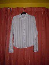 Camisa a rayas de manga larga señoras by Abercrombie & Fitch Talla L