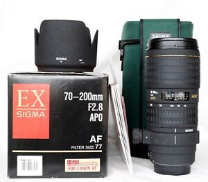 Sigma EX 70-200mm F/2.8 APO HSM for Canon, Preowned Excellent, Sharp