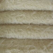 """1/4 yd 300S/C Cream Intercal 1/2"""" Ultra-Sparse Curly S-Finish Mohair Fur Fabric"""