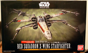 Star Wars X - Wing Fighter Red Sq. Rogue One 1:72 + 1:144 Bandai  210522
