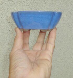 """NEW Glazed Oval Ceramic Bonsai Pot Accent Mame Dwarf Planter 5""""x4.25""""x1.75"""""""