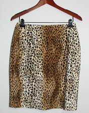 Women's Focus 2000 By Charles Blueck Animal Print Furry Pencil Skirt Size: 8