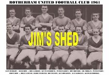 ROTHERHAM UNITED F.C TEAM PRINT 1961 (IRONSIDE/MADDEN)