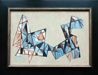 Georg LANG (1907-1989 Nürnberg): Abstrakt-konstruktive Komposition, Ölgemälde