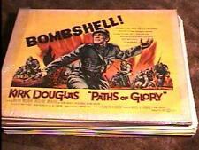 PATHS OF GLORY 22X28 MOVIE POSTER '58 STANLEY KUBRICK