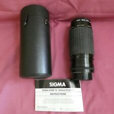 Sigma Zoom 75-300mm lens with case & Filter Nikon mount