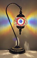 Handmade Stained Glass Mosaic Table Lamp Light Turkish Moroccan For Home Decor
