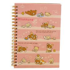Japan cartoon Rilakkuma Sumikkogurashi Coil notebook Pink Bear Play Cat D1N6