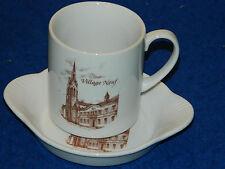 vaisselle TASSE & sous tasse porcelaine VILLAGE NEUF 68128 haut rhin ALSACE mug