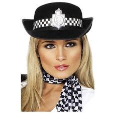 Policewomans Chapeau Femmes Police Officier Accessoire Déguisement Chapeau