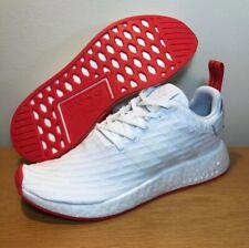 860704bcabd88 NEW ADIDAS NMD R2 PK Primeknit Mens Sz 8 White Core Red Shoes Boost BA7253