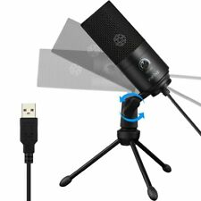 Fifine Black USB Condenser Recording Microphone For Laptop MAC Or Windows