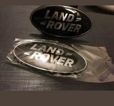 2 X LAND ROVER BLACK SILVER FRONT GRILLE BADGE EMBLEM DISCOVERY RANGE UK SELLER
