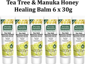 6 x 30g THURSDAY PLANTATION Tea Tree & Manuka Honey Healing Balm