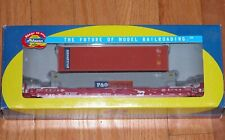 ATHEARN 72551 HUSKY STACK WELL CAR W/ 2 CONTAINERS BURLINGTON NORTHERN BN 64007