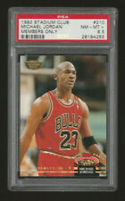 1992 Stadium Club *Members Only* Michael Jordan #210 PSA 8.5 RARE last dance NR!