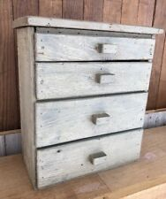Antique Mini Table Top Chest of Drawers Barn Wood Primitive Rough Sawn Pine