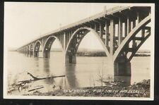 REAL PHOTO Postcard FT FORT SMITH Arkansas/AR  New Bridge Construction 1930's