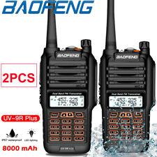 2X Baofeng UV-9R Plus Walkie Talkie 8800mAh 5W Dual Band Handheld Two Way Radio