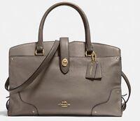 ❤️ COACH MERCER Satchel Leather Handbag Purse Bag LARGE Fog NWT $450