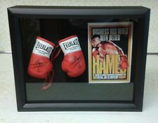 PRINCE NASEEM HAMMED 8 X 10 BLACK BOXING DISPLAY WITH MINI BOXING GLOVES