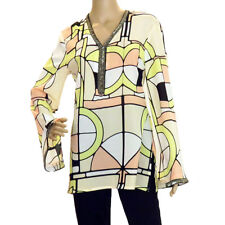 Joseph Ribkoff 151636 Women New Peach Yellow and White Blouse Size 20 US NWT