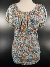 Beautiful Women's Medium Ralph Lauren Chaps Floral Short Sleeve Peasant Blouse