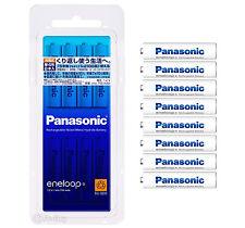 8 Panasonic Eneloop 750 mAh AAA Batteries 2100 Times Rechargeable NiHM Batteries